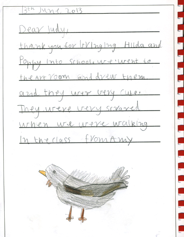 chicken thank you - Amy