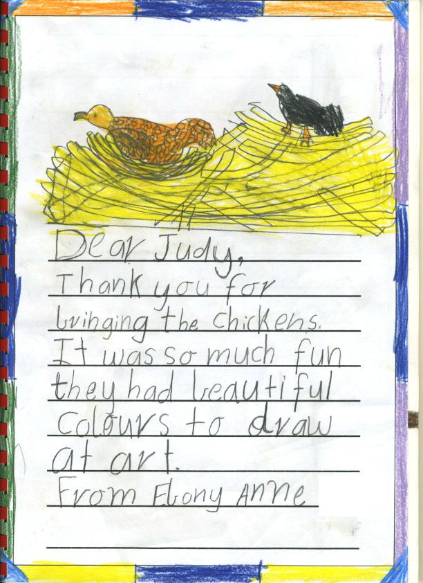 chicken thank you - Ebony