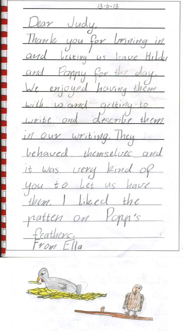 chicken thank you - Ella