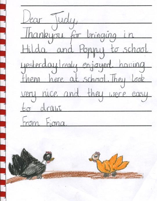 chicken thank you - Fiona