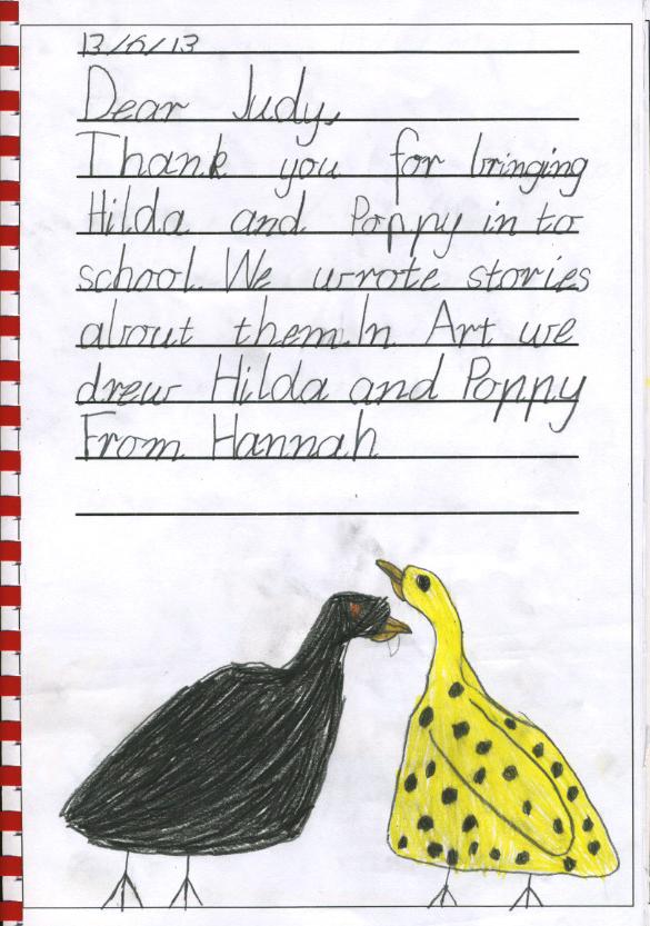 chicken thank you - Hannah