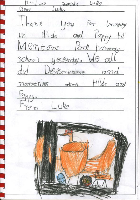 chicken thank you - Luke G