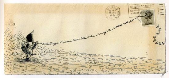 illustrated envelope by Susan Varley