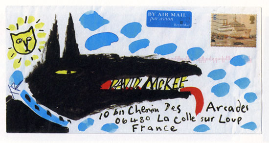Illustrated envelope by Tony Ross