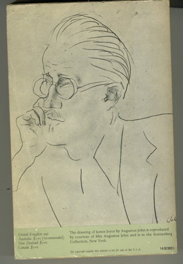 James Joyce by Augustus John (in the Sonnenberg Collection, New York)