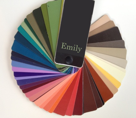 Emily's personal colour swatch book (yes, I am kidding)