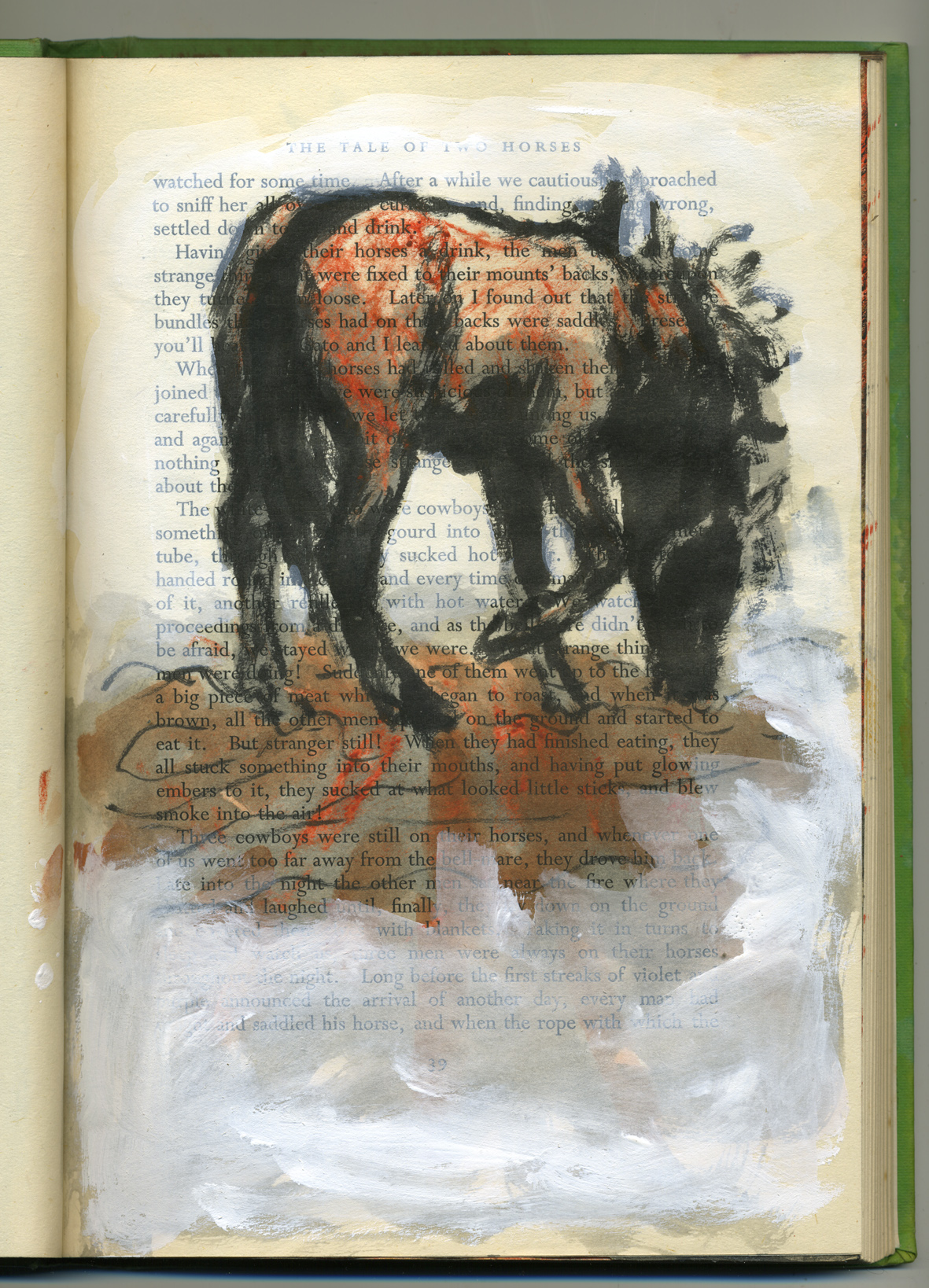 equine soliloquy hunched horse