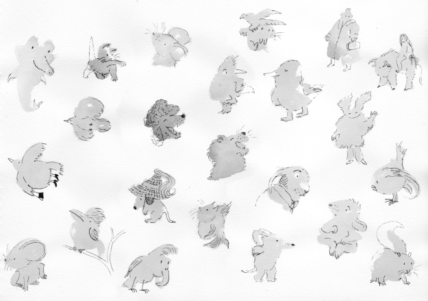 grey blob creatures composite levels lores