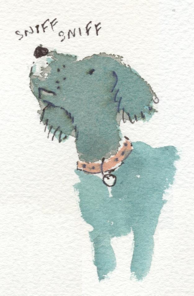 sniffing mutt