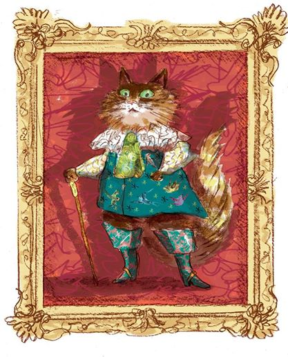 This one was for the 52-week Illustration challenge, but I was thinking about Puss in Boots for the puppet challenge at the time.
