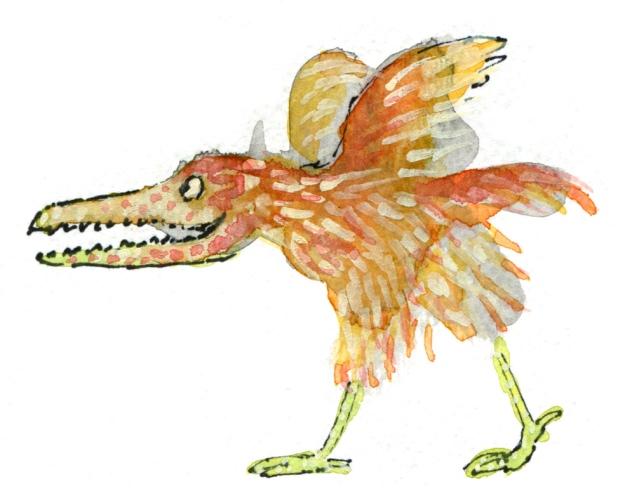 baby carnivore bird judywatsonart lores