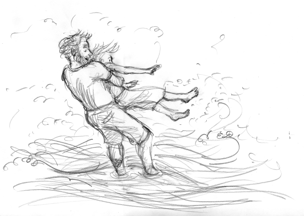 An unused sketch for 'Thunderstorm Dancing'