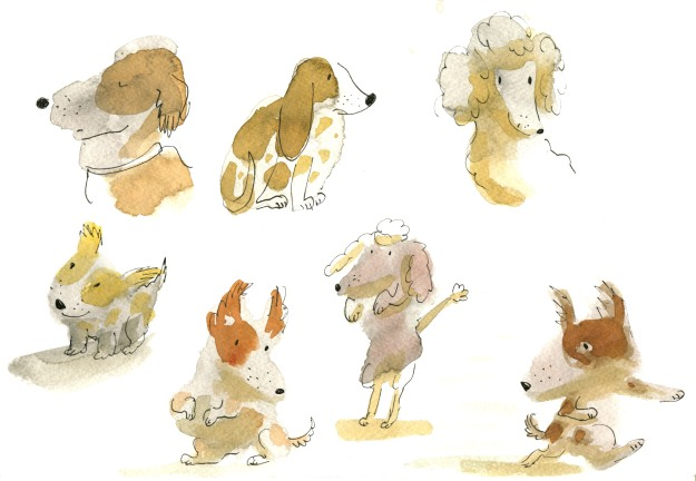page of dog blobs judywatonart lores