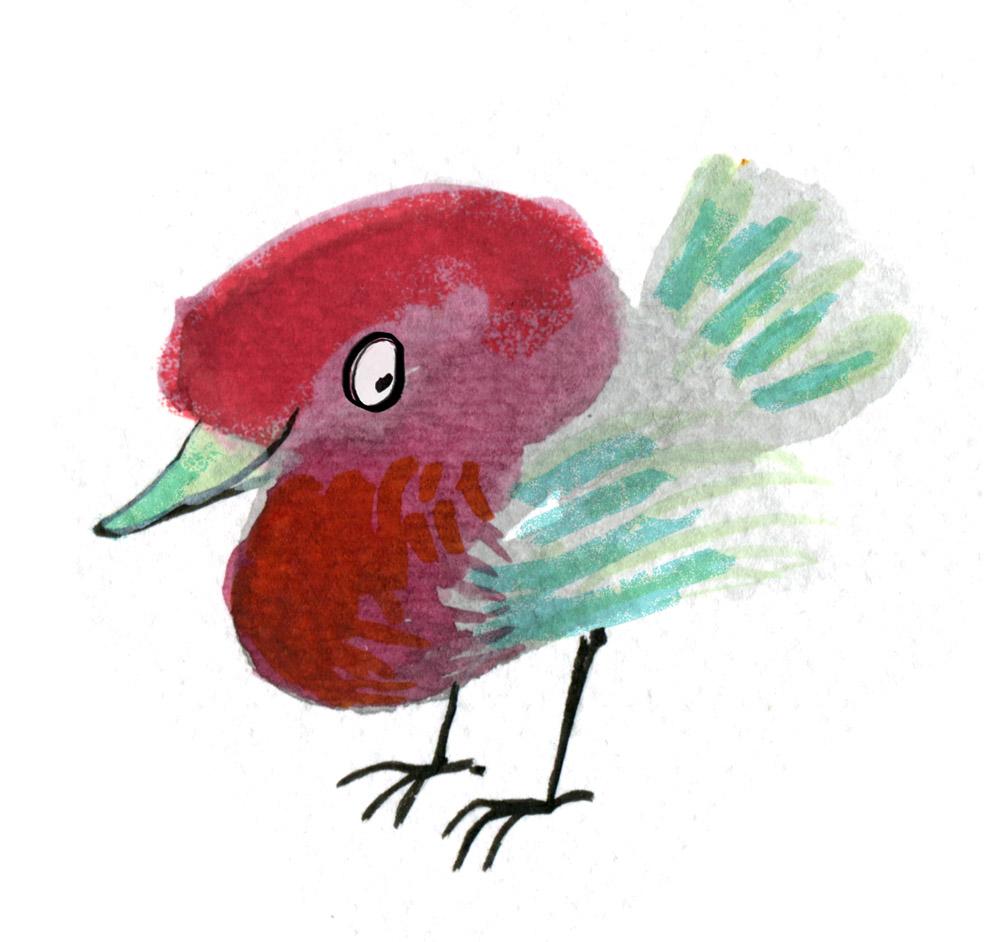 red bird judywatsonart lores
