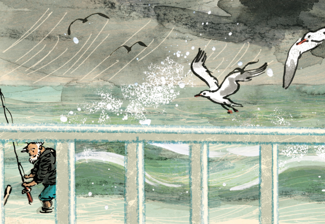 A small fragment of one final illustration from Thunderstorm Dancing