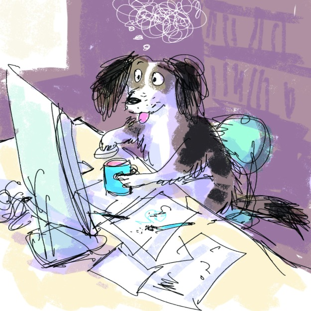 working to deadlines judywatsonart