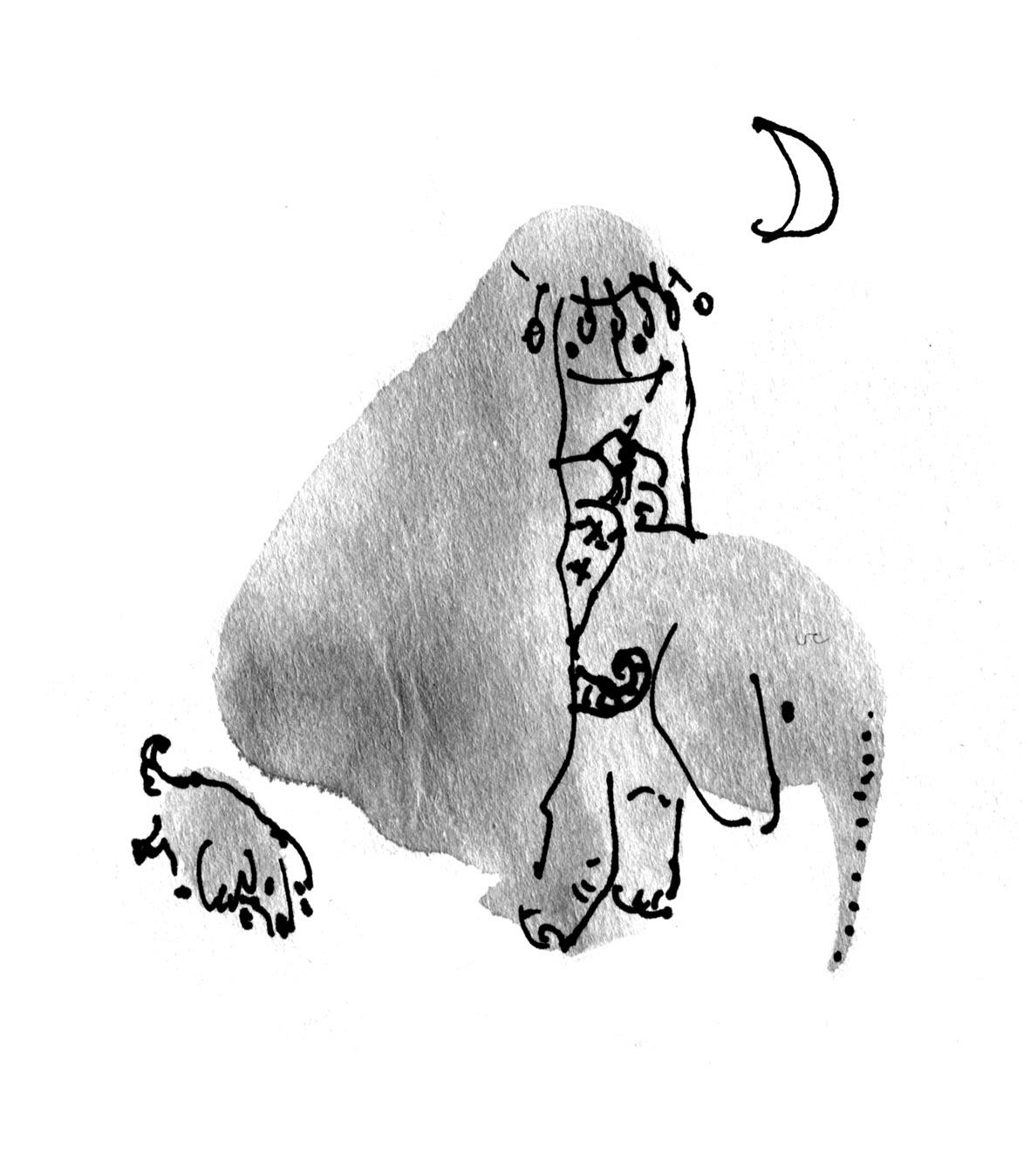 princess on tiny elephant judywatsonart lores