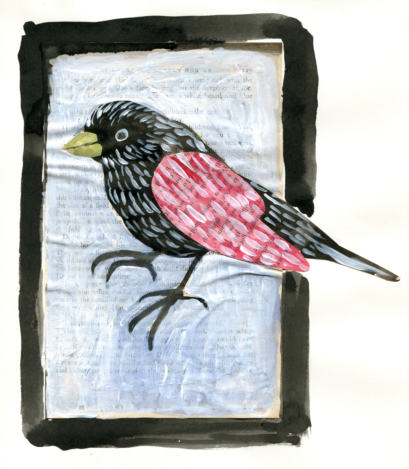 Another little collage bird