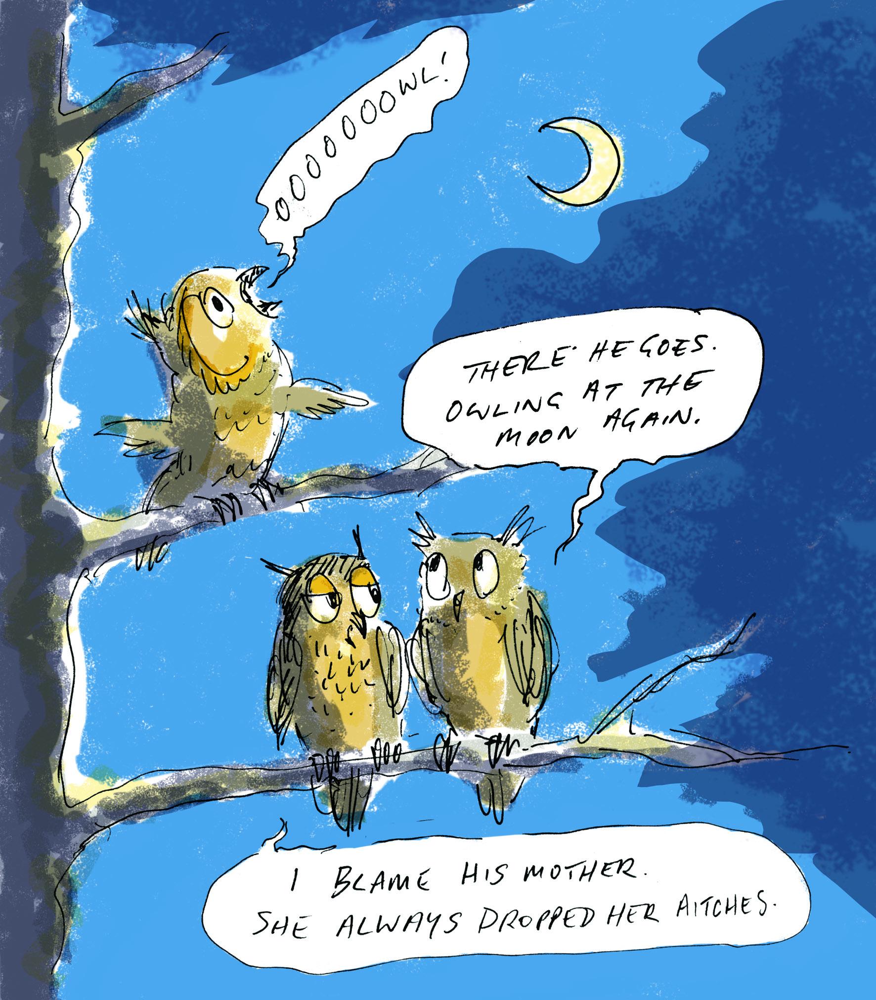 owling at the moon judywatsonart lores