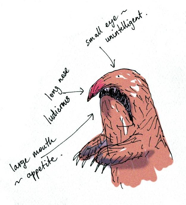troll puppet sketch judywatsonart lores