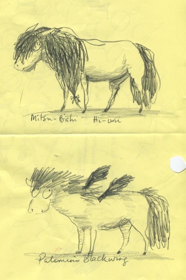 pencil testing pony