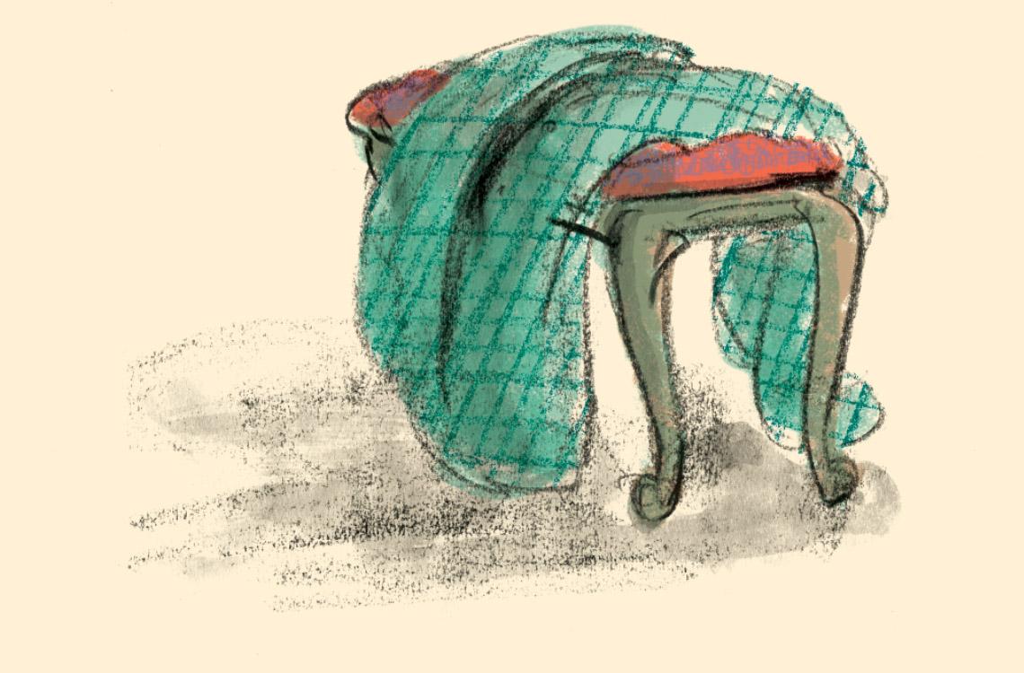 piano stool colour sketch