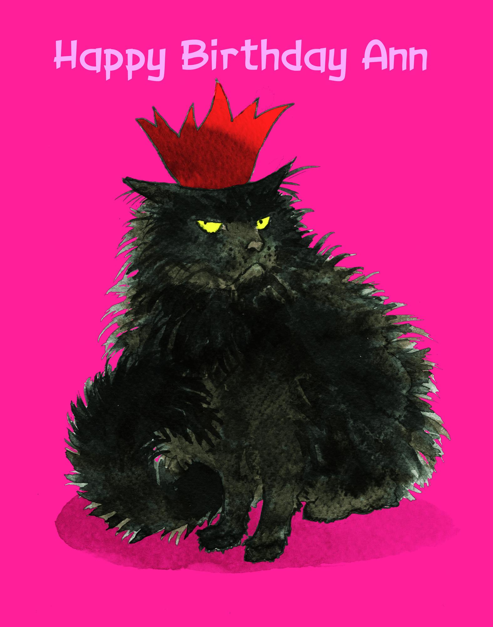 Sam says happy birthday Ann James lores