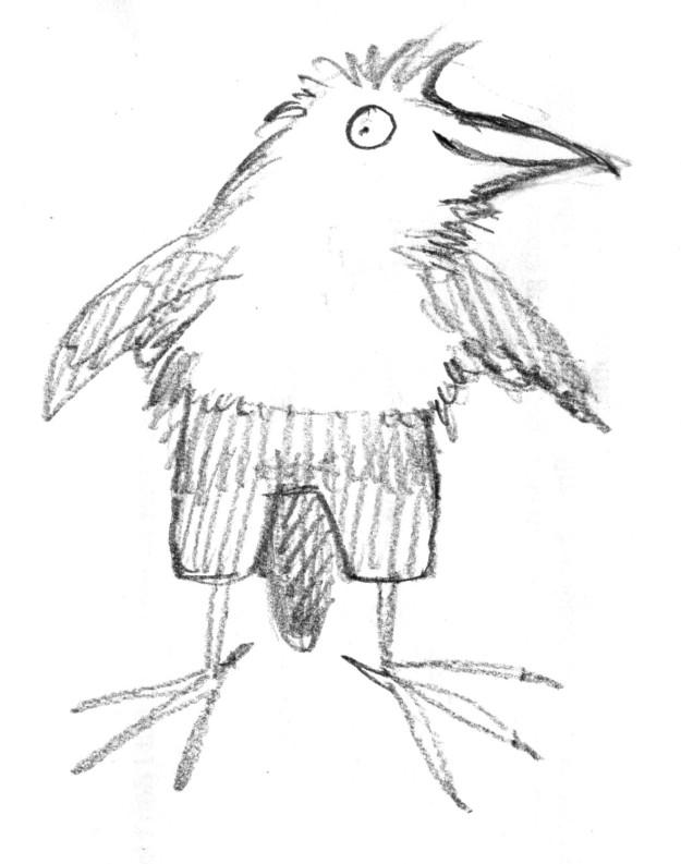 Galumphing bird doodle 3 judywatsonart lores