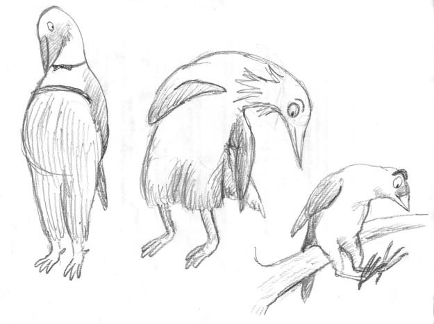 Galumphing bird doodle2 judywatsonart lores