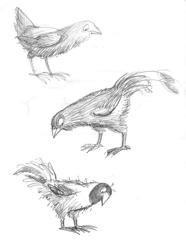 Galumphing bird doodles judywatsonart lores