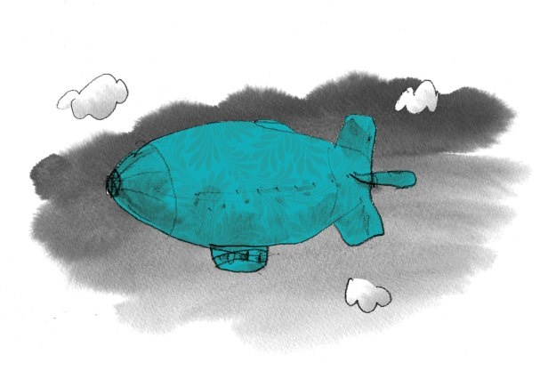dirigible blue
