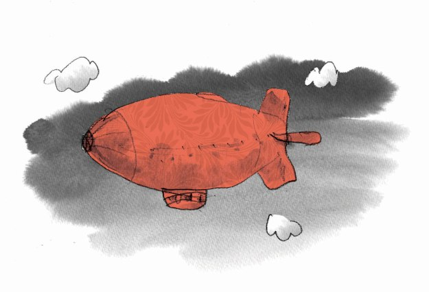 dirigible red