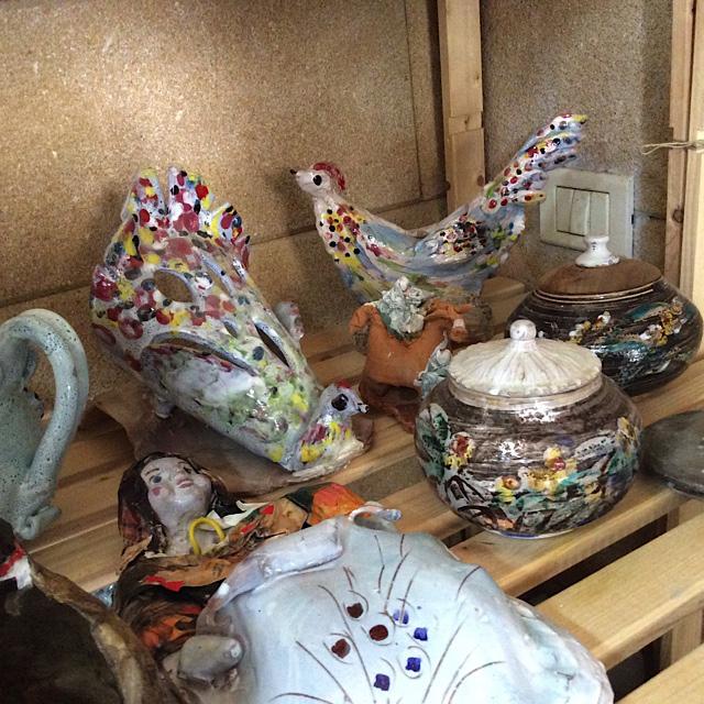 spotty ceramic birds
