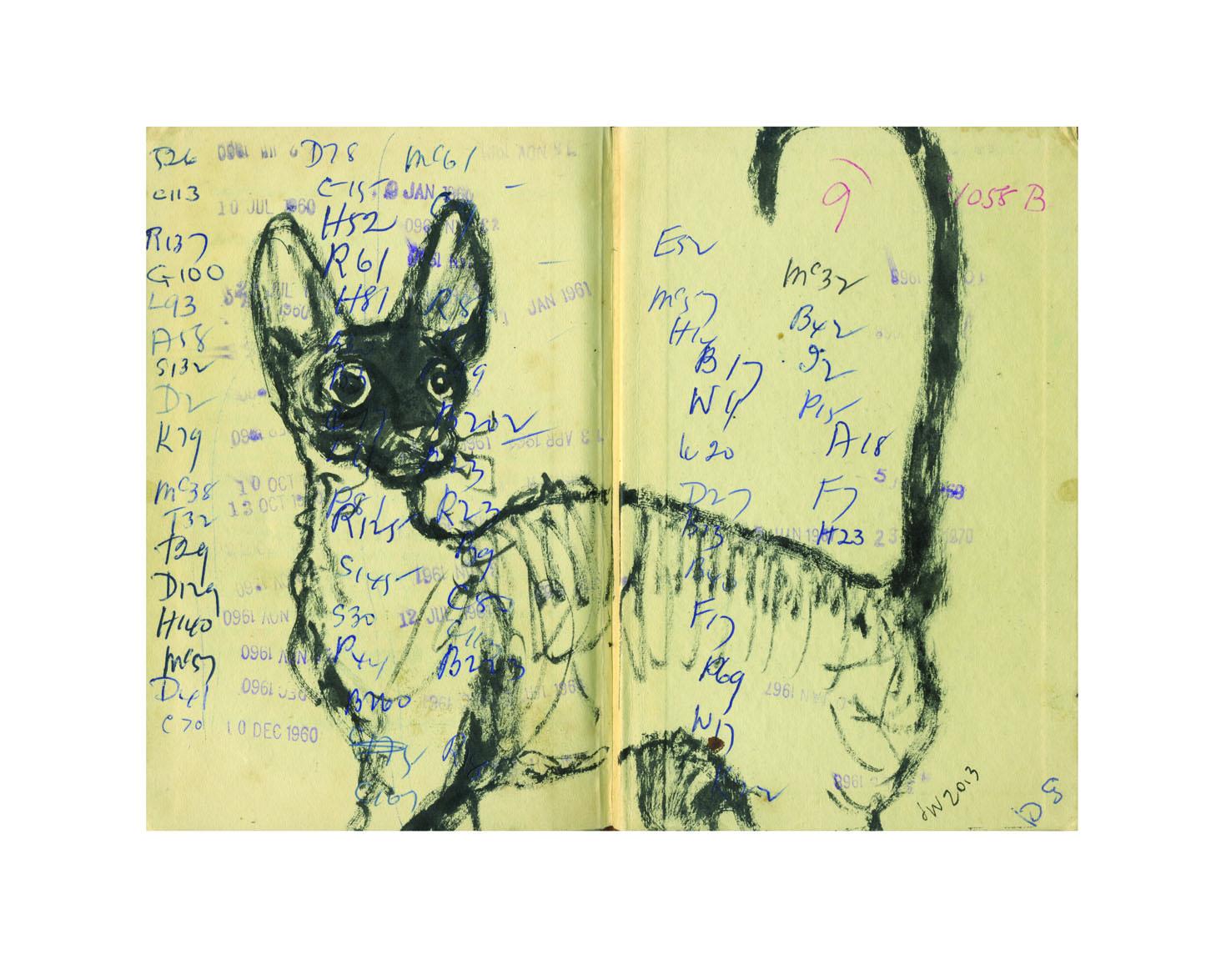 Cornish library tick cat lores JudyWatsonArt