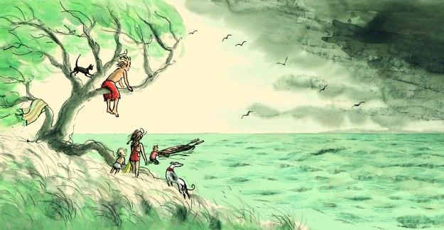 Thunder opening spread seascape lores JudyWatsonArt