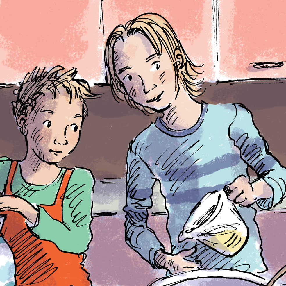 my boys do cooking Maths JudyWatsonArt