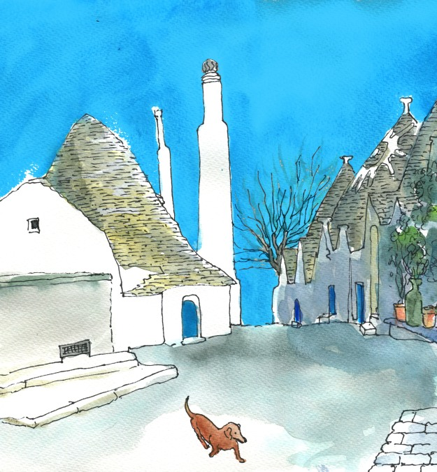 Puglia sketch with dachshund colour lores