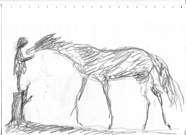 brain doodle horse