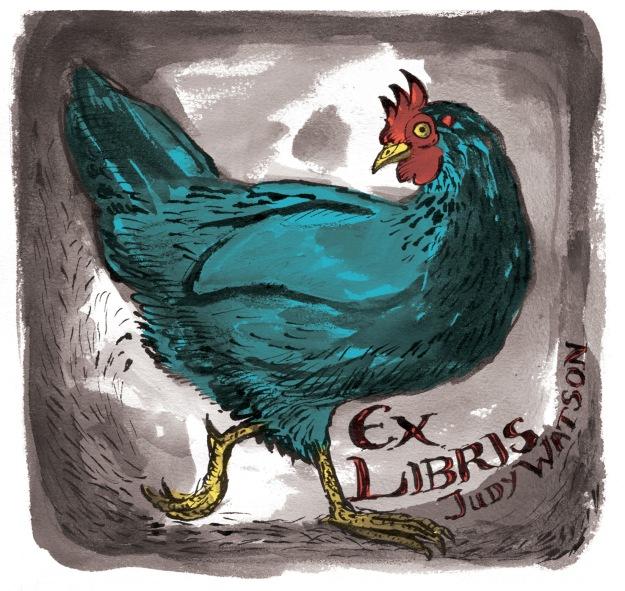sepia chicken judywatsonart lores