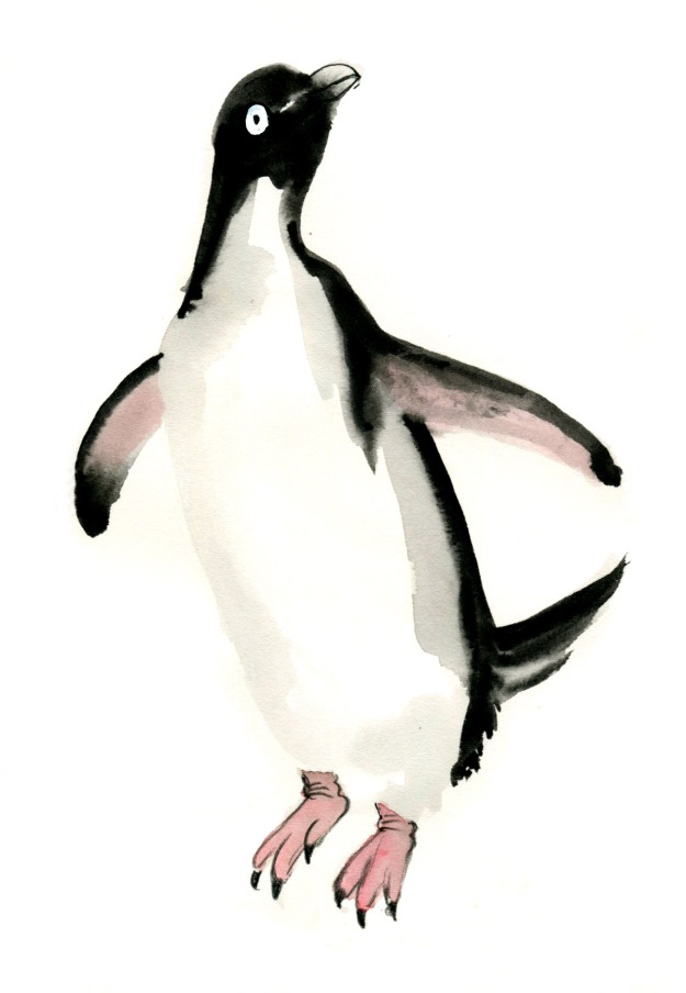 penguin pencil and wash early 1